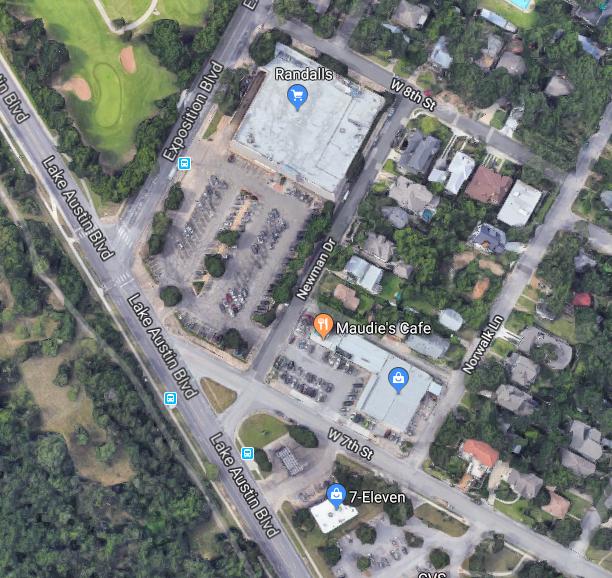 Close in satellite view of UT RFP sites
